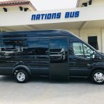 Ford Transit 350 13 passenger charter shuttle coach bus for sale - Gas 1