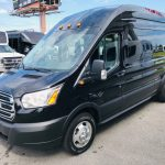 Ford Transit 350 13 passenger charter shuttle coach bus for sale - Gas 3