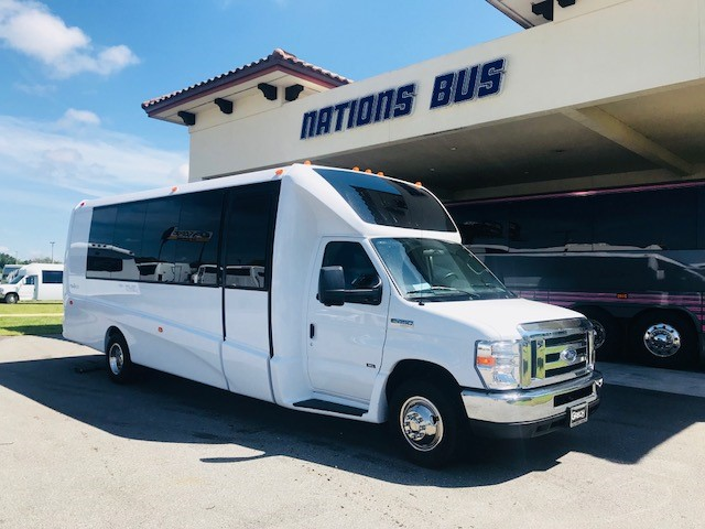 Ford E450 23 passenger charter shuttle coach bus for sale - Gas