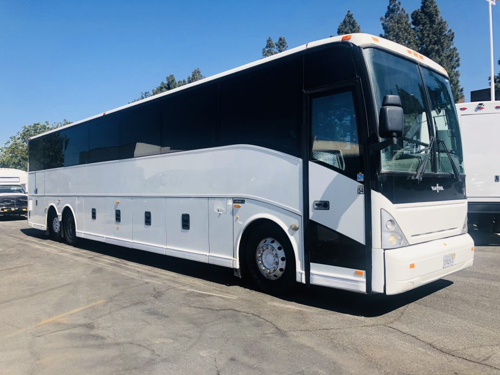 Van Hool  57 passenger charter shuttle coach bus for sale - Diesel