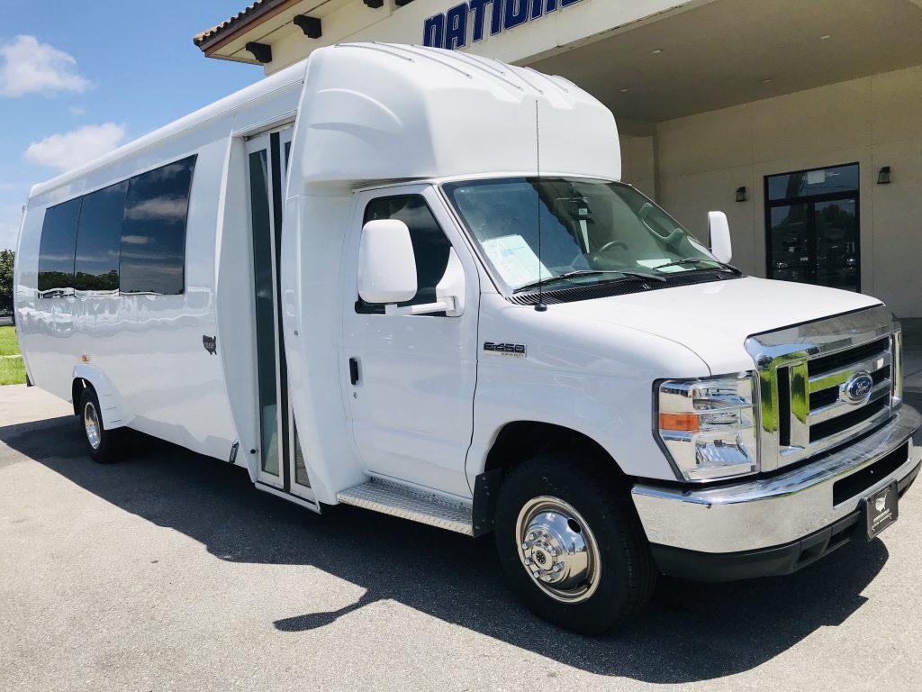 Ford E450 23 passenger charter shuttle coach bus for sale - Gas