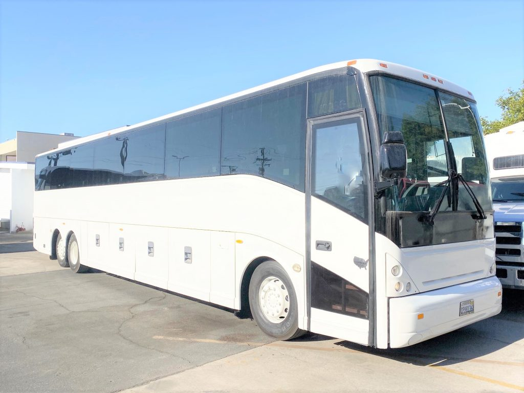 Van Hool  56 passenger charter shuttle coach bus for sale - Diesel