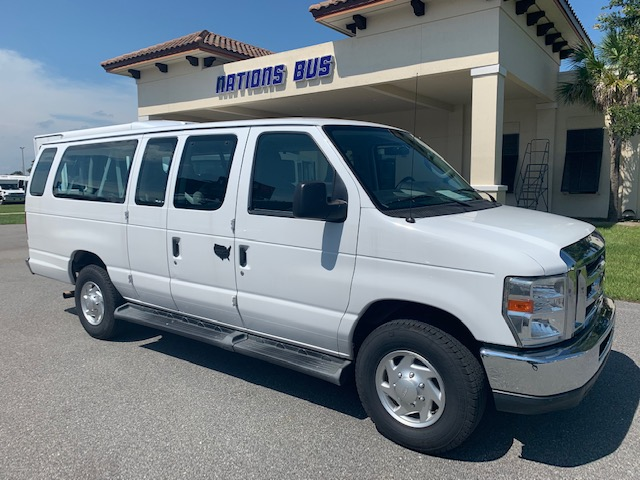 Ford E350 10 passenger charter shuttle coach bus for sale - Gas