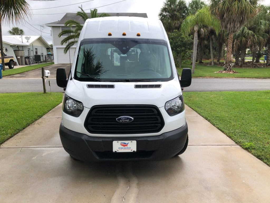 Ford Transit 350 XL 8 passenger charter shuttle coach bus for sale - Gas