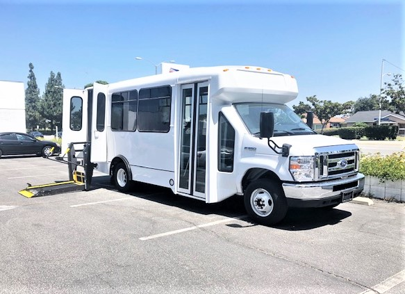 Ford E350 12 passenger charter shuttle coach bus for sale - Gas