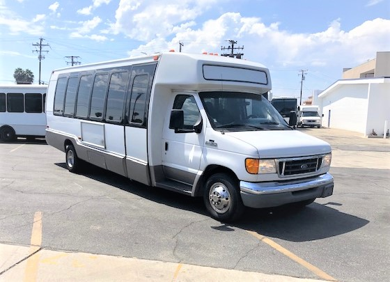Ford E450 24 passenger charter shuttle coach bus for sale - Diesel