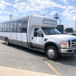 Ford E550 28 passenger charter shuttle coach bus for sale - Diesel 1