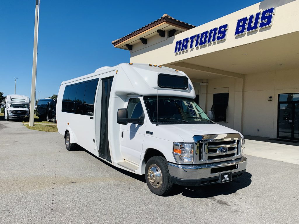 Ford E450 22 passenger charter shuttle coach bus for sale - Gas