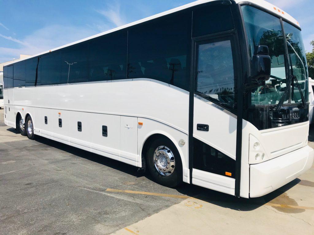 Van Hool  56 passenger charter shuttle coach bus for sale - Diesel