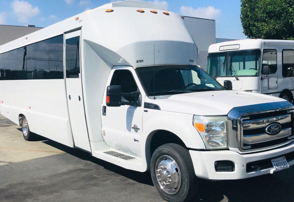 Ford F550 28 passenger charter shuttle coach bus for sale - Diesel