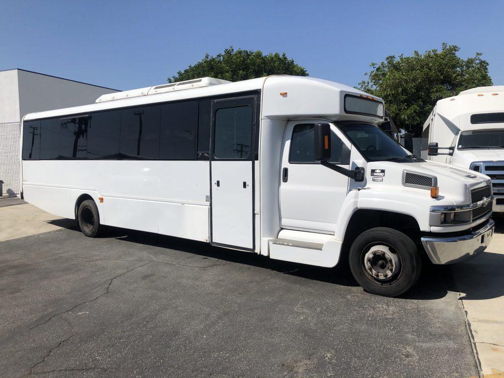 Chevy C5500 36 passenger charter shuttle coach bus for sale - Diesel