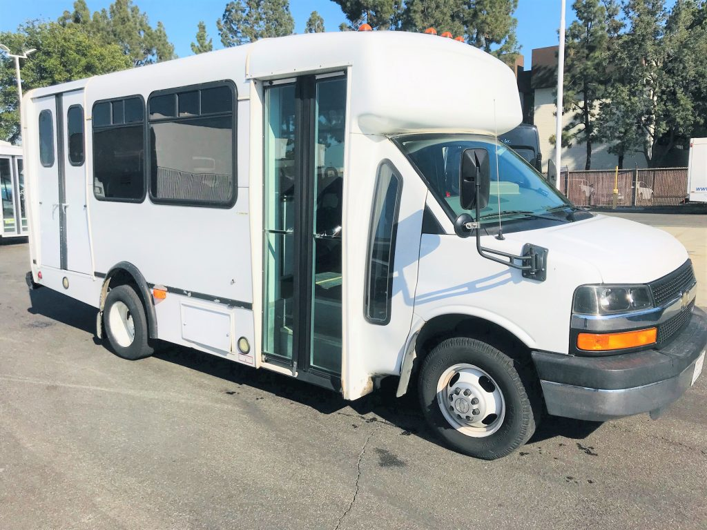 Chevy Express C3500 7 passenger charter shuttle coach bus for sale - Gas
