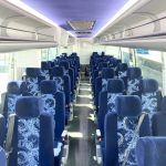 Volvo 54 passenger charter shuttle coach bus for sale - Diesel 6