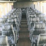 Ford F750 48 passenger charter shuttle coach bus for sale - Diesel 9
