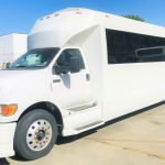 Ford F750 48 passenger charter shuttle coach bus for sale - Diesel 3