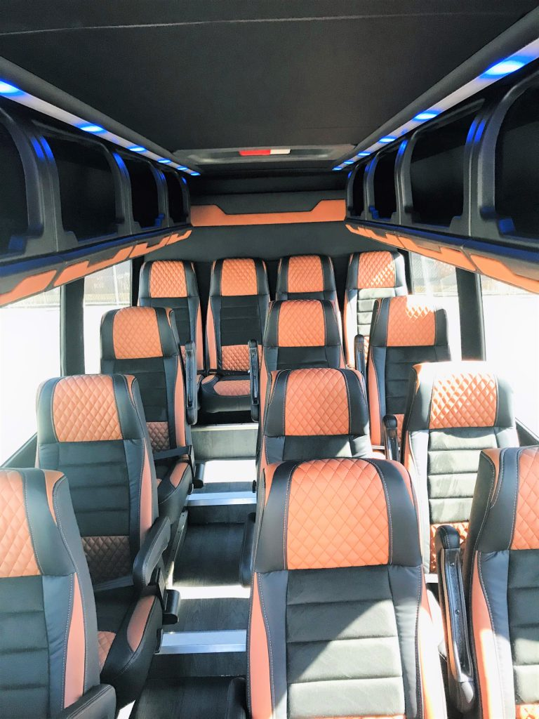 Mercedes 16 passenger charter shuttle coach bus for sale - Diesel