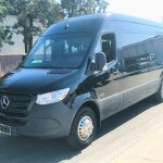 Mercedes 16 passenger charter shuttle coach bus for sale - Diesel 6