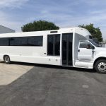 Ford F750 48 passenger charter shuttle coach bus for sale - Diesel 1