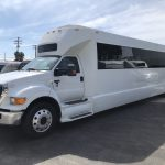 Ford F750 48 passenger charter shuttle coach bus for sale - Diesel 6