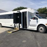 Ford F750 48 passenger charter shuttle coach bus for sale - Diesel 2
