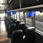 Ford F750 48 passenger charter shuttle coach bus for sale - Diesel 13