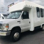 Ford E350 10 passenger charter shuttle coach bus for sale - Gas 6