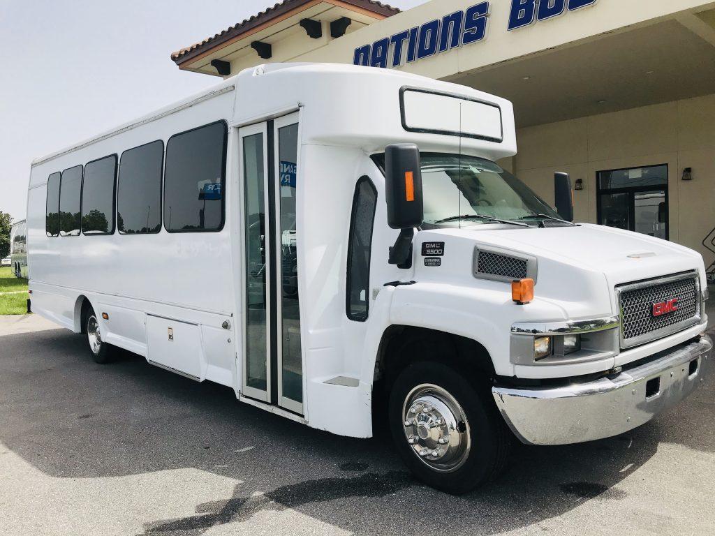 GMC 5500 29 passenger charter shuttle coach bus for sale - Diesel