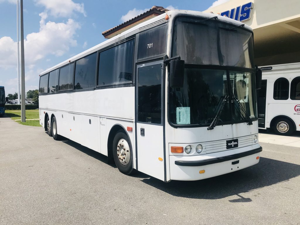 Van Hool 52 passenger charter shuttle coach bus for sale - Gas