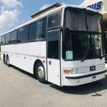 Van Hool 52 passenger charter shuttle coach bus for sale - Gas 1