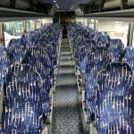 Van Hool 57 passenger charter shuttle coach bus for sale - Diesel 6