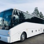 Van Hool 57 passenger charter shuttle coach bus for sale - Diesel 3