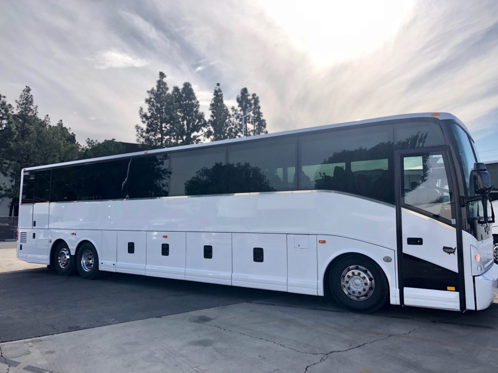 Van Hool 57 passenger charter shuttle coach bus for sale - Diesel