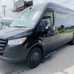 Mercedes 3500 13 passenger charter shuttle coach bus for sale - Diesel 7