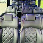 Mercedes 3500 13 passenger charter shuttle coach bus for sale - Diesel 9