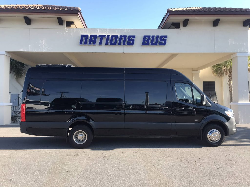 Mercedes 3500 13 passenger charter shuttle coach bus for sale - Diesel