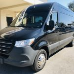 Mercedes 3500 14 passenger charter shuttle coach bus for sale - Diesel 9