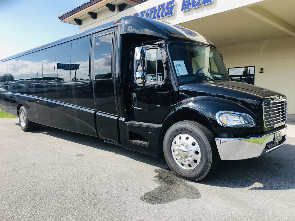 Freightliner M2 38 passenger charter shuttle coach bus for sale - Diesel