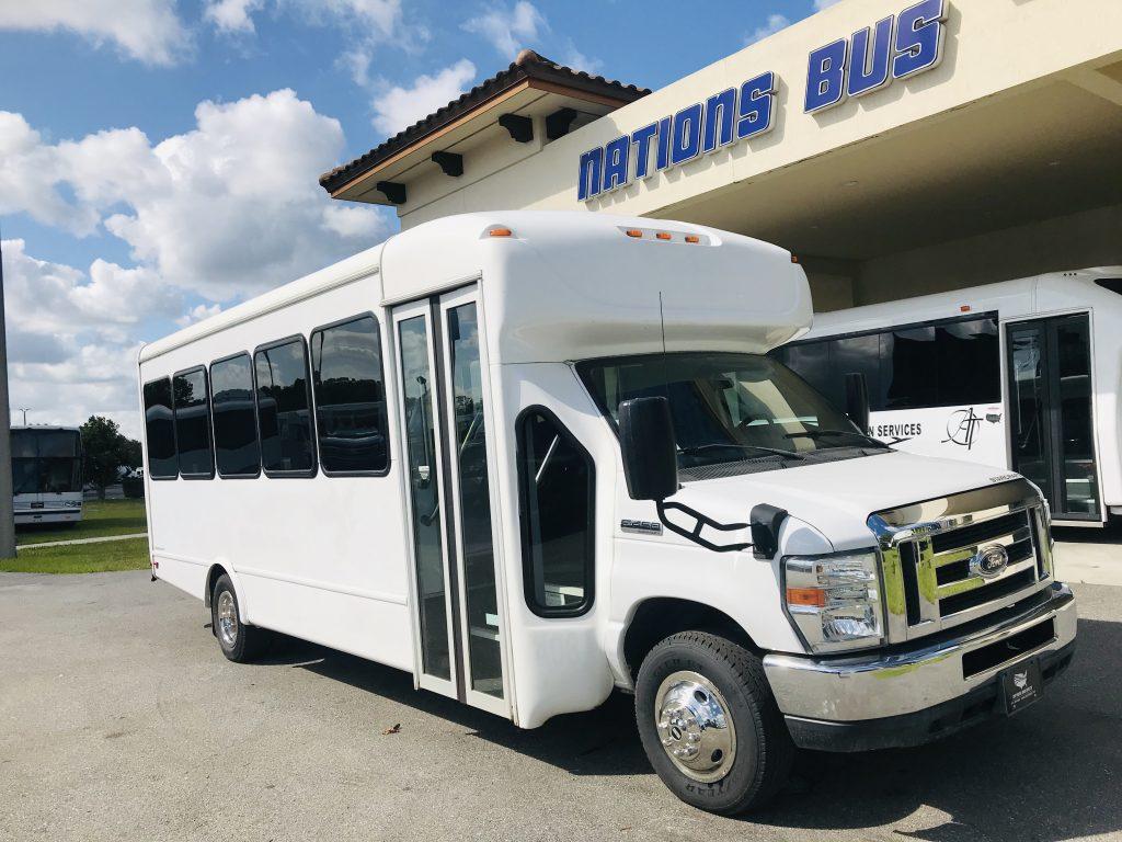 Ford E450 25 passenger charter shuttle coach bus for sale - Gas