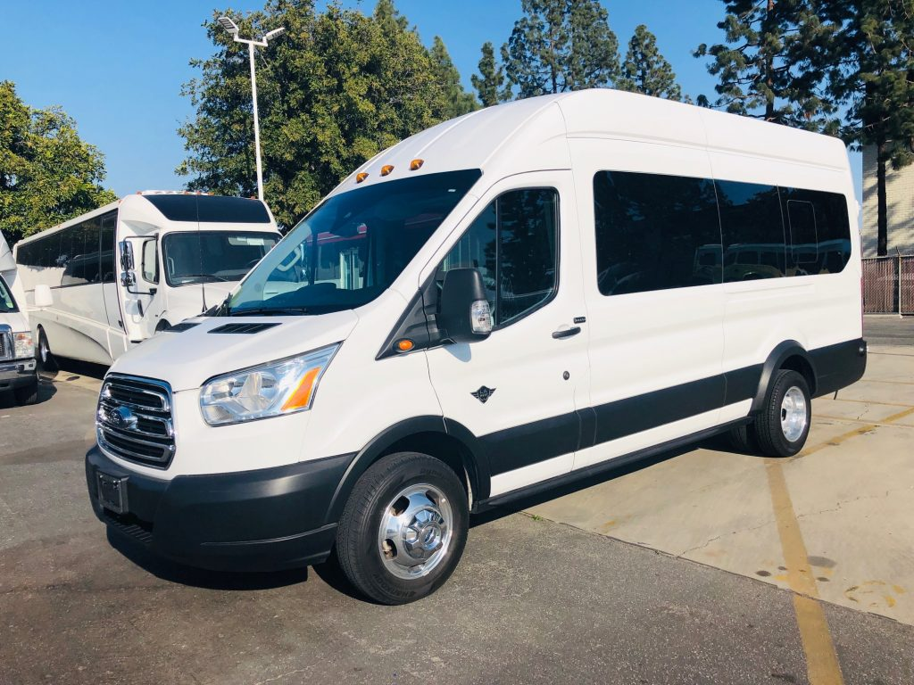 Ford Transit 8 passenger charter shuttle coach bus for sale - Gas