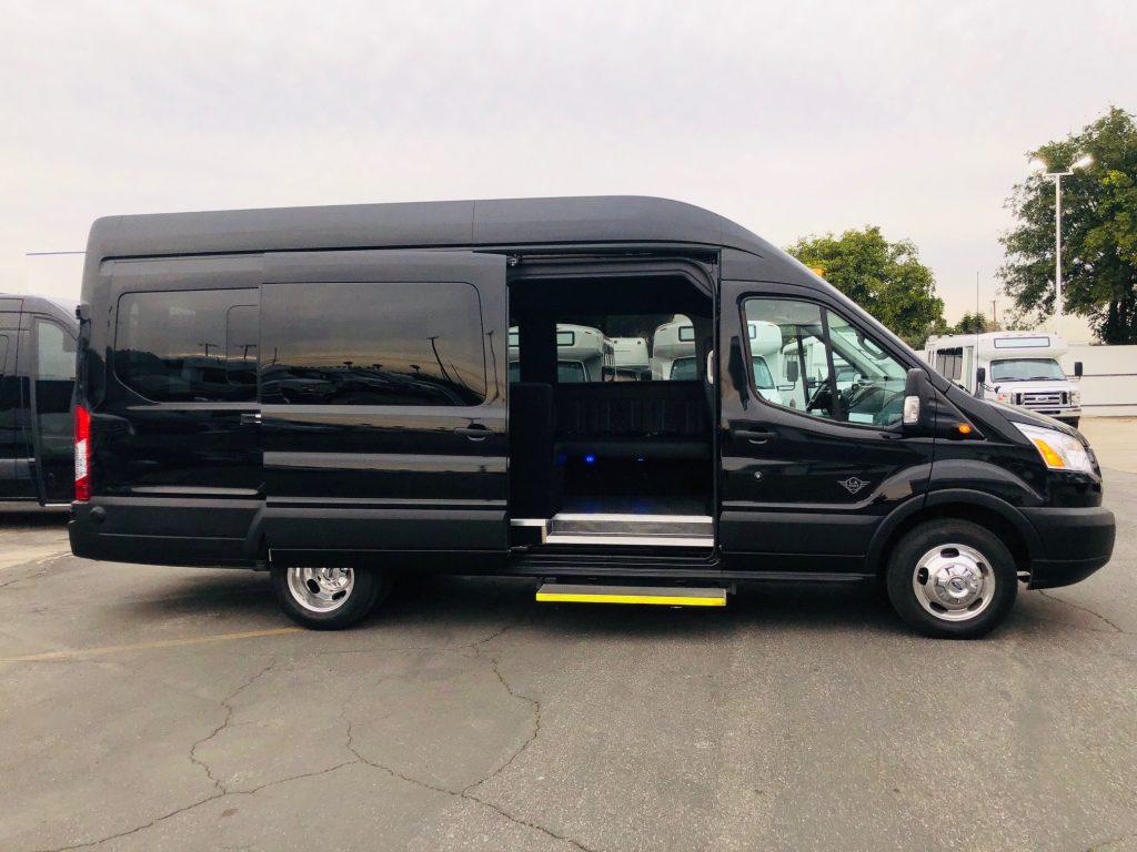 Ford Transit 350 HD XLT 13 passenger charter shuttle coach bus for sale - Gas
