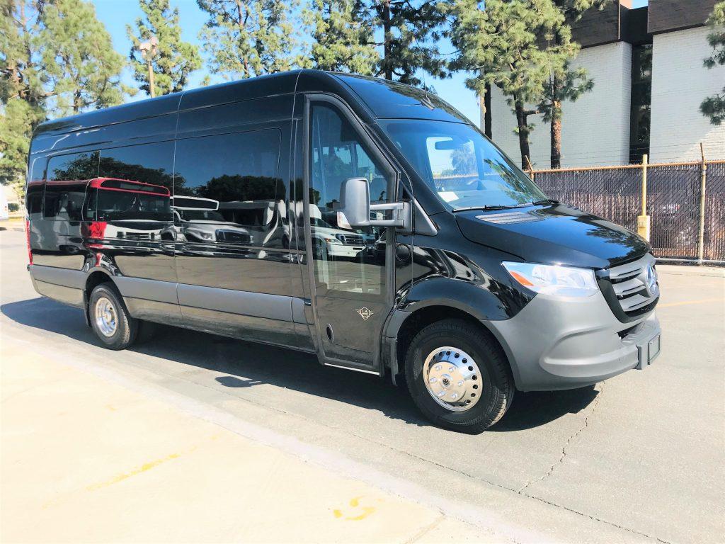 Mercedes 16 passenger charter shuttle coach bus for sale - Diesel