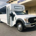 Ford F550 33 passenger charter shuttle coach bus for sale - Gas 1