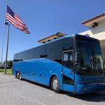 Van Hool 58 passenger charter shuttle coach bus for sale - Diesel 4