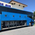 Van Hool 58 passenger charter shuttle coach bus for sale - Diesel 10