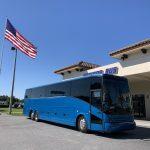 Van Hool 58 passenger charter shuttle coach bus for sale - Diesel 6