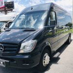 MERCEDES BENZ 16 passenger charter shuttle coach bus for sale - Diesel 9