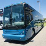 Van Hool 58 passenger charter shuttle coach bus for sale - Diesel 7