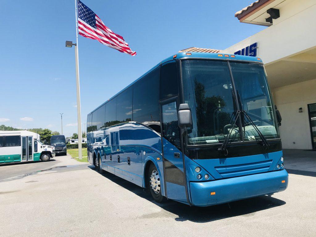 Van Hool 58 passenger charter shuttle coach bus for sale - Diesel