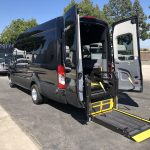 Ford Transit 350 HD XLT  8 passenger charter shuttle coach bus for sale - Gas 4