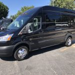 Ford Transit 350 HD XLT  8 passenger charter shuttle coach bus for sale - Gas 2